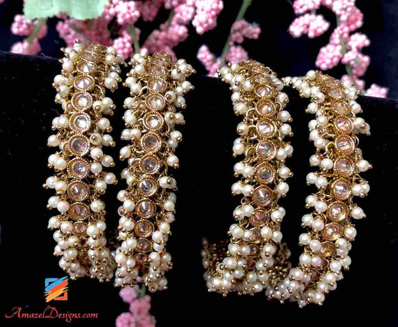 Polki Pearls Bangle