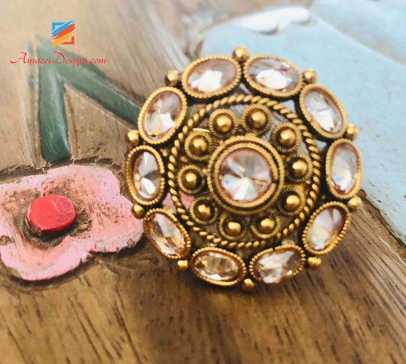 Ring Polki Adjustable