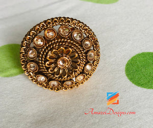 Ring Kundan Adjustable