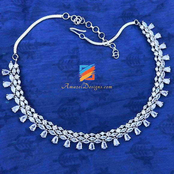 Silver American Diamond (AD) Necklace