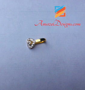 Silver Nose Ring American Diamond Clip On