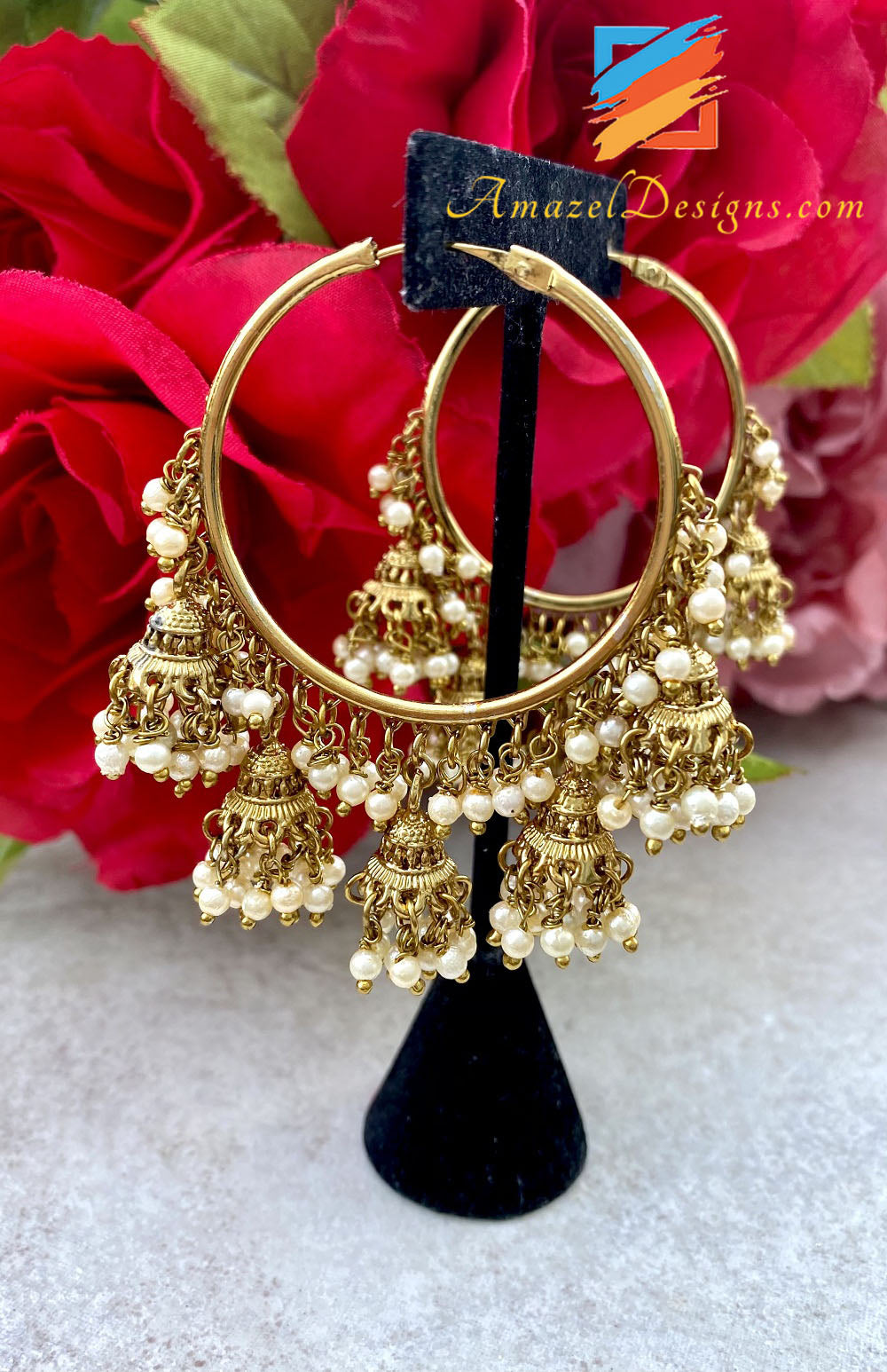 Waliyaan With Bunches of Beads and Jhumkis