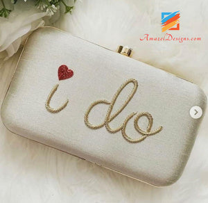 White Clutch With Name