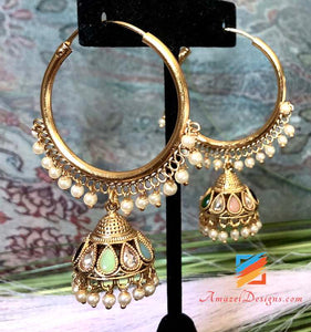 Lightweight Normal Size Valliyan with Multicoloured Jhumki