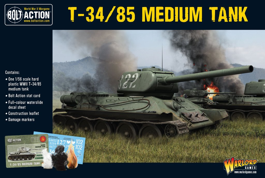T-34/85 medium tank (plastic