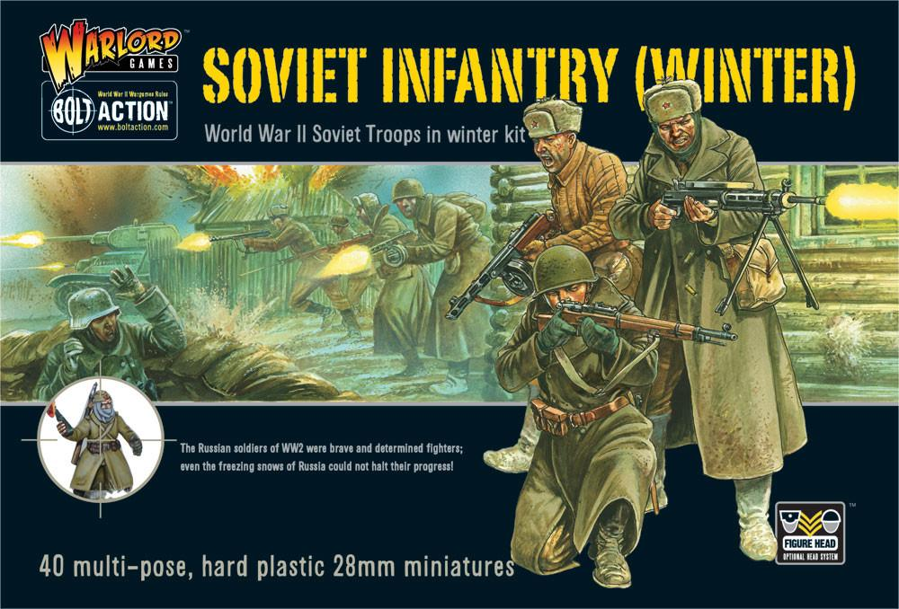 Soviet Winter Infantry plastic box set