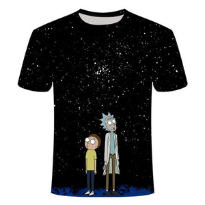 Rick and Morty Anime T-Shirt