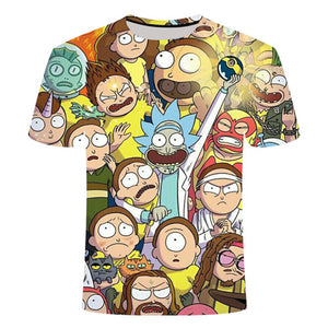 Rick and Morty By Jm2 Art 3D T Shirt