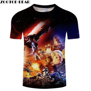 Spaceship Star Wars 3D Printed T Shirt