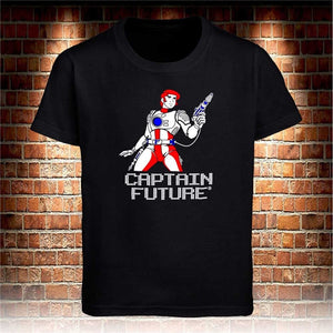 Captain Future 80er Black T Shirt