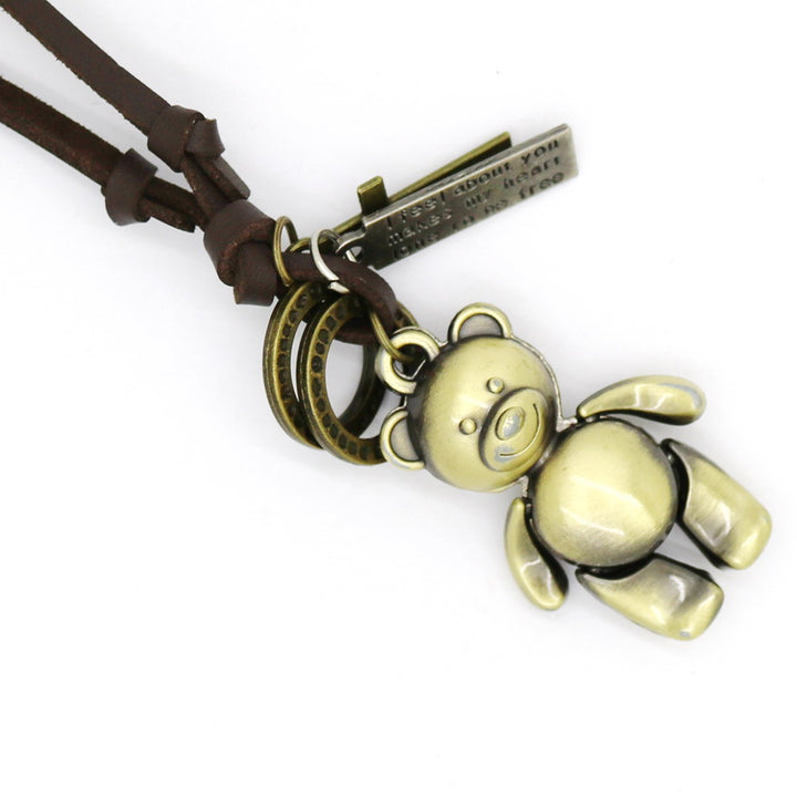 Robot Teddy Bear Necklace