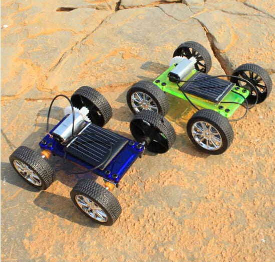 Mini Solar Powered Educational Hobby Robot DIY Car Kit