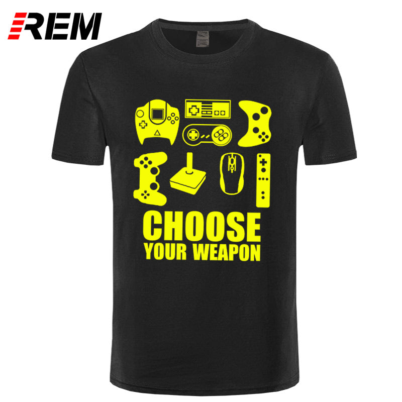 The Ultimate Gamer Men's T-shirt Choose Your Weapon Video Game Controller