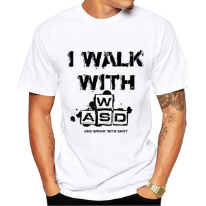 Real Gamers  Don't Need a Controller! --- I walk with WASD  T-Shirt