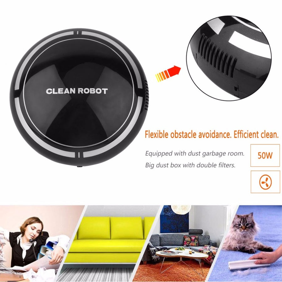 Household Mini Smart Automatic Multi-directional Suction Vacuum Cleaner