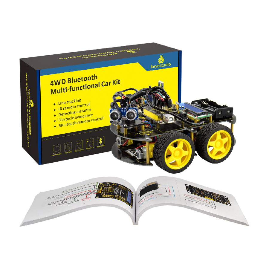 4WD Bluetooth Multi-functional DIY Smart Arduino Robot Education Programming Car