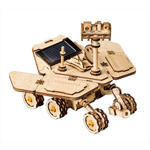 Wooden Solar Energy Powered 3D Mars Explorers