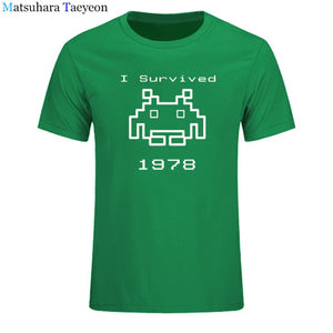 I Survived 1978 MenSpace Invaders - Atari T-Shirt