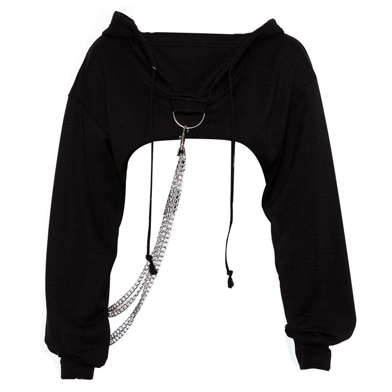 Chained Ordeal Cropped Hoodie