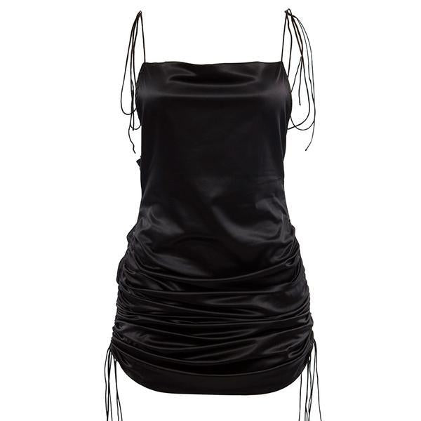 Rouched Up Spaghetti Strap Dress