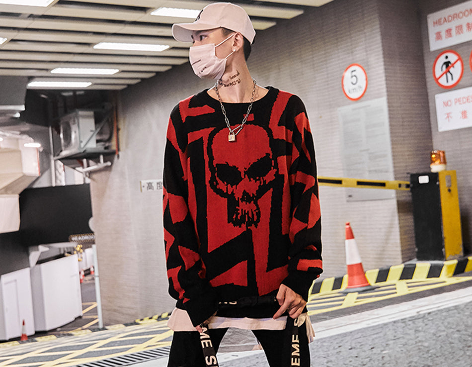 Psychedelica Skull Knitted Sweater