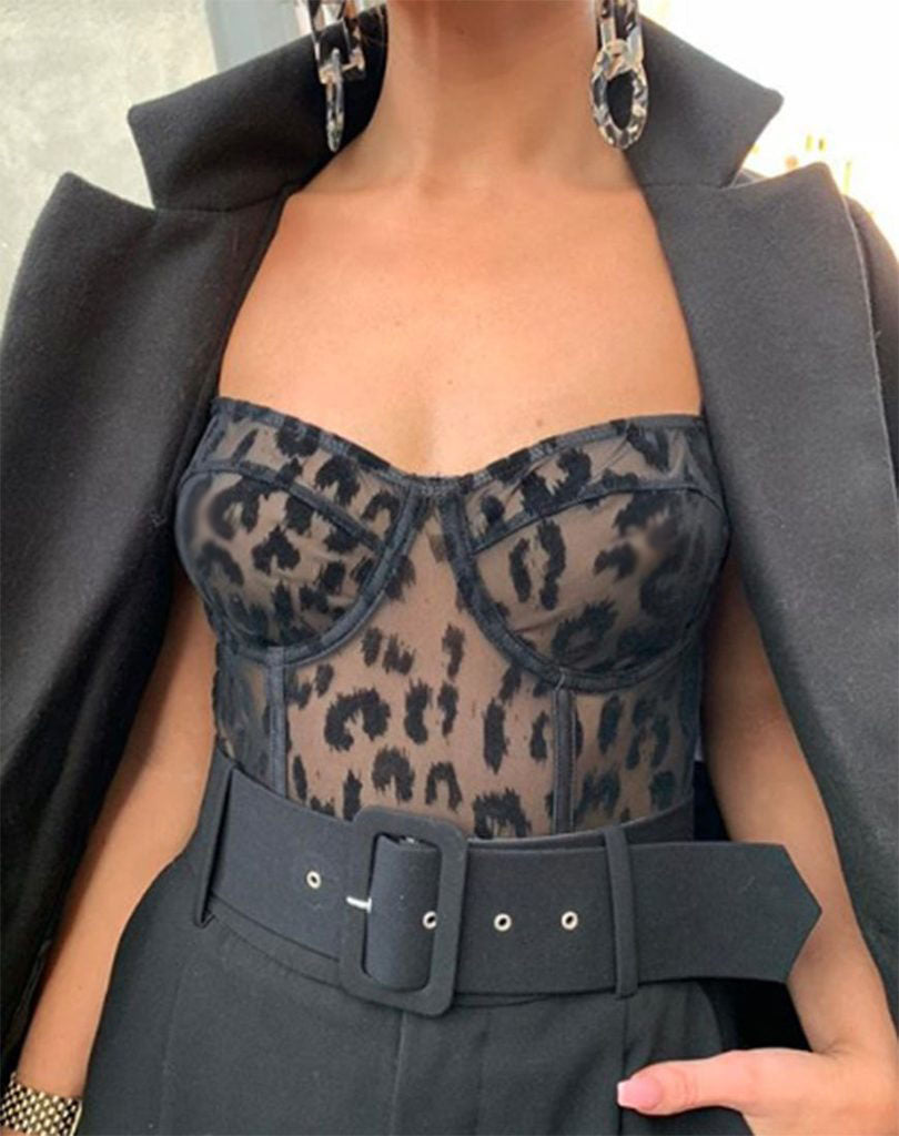 Black Leopard Ambition Bodysuit