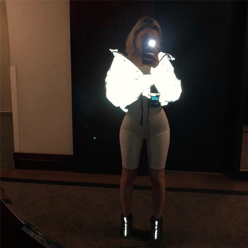 Enlightened Padded Reflected Crop Jacket