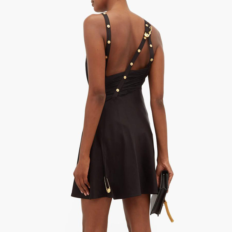 Safety Pins Asymmetrical Dress