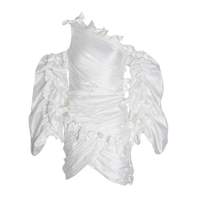 Ruffled Concepts Asymmetric Dress