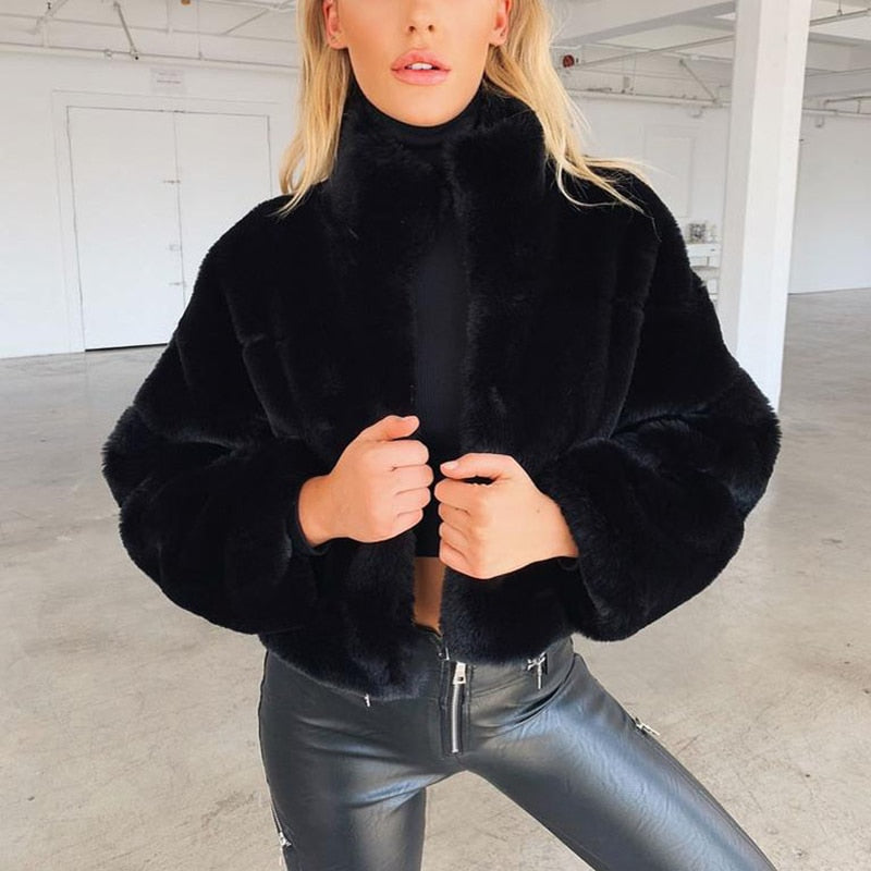 Bagheera Fluffy Faux Fur Coat