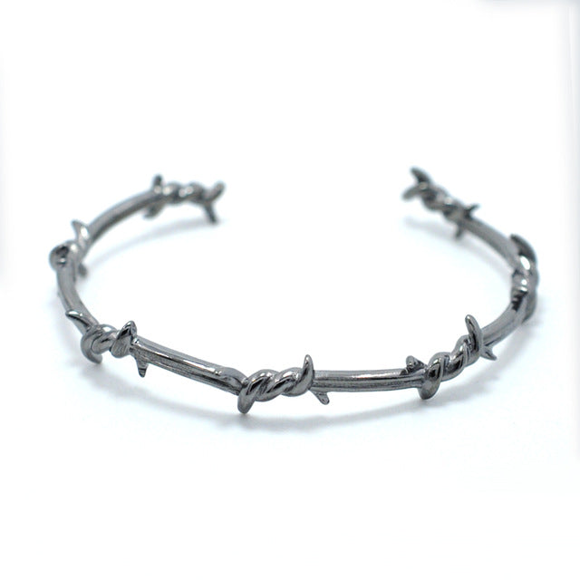 Barbed Wire LYF Cuff Bracelet