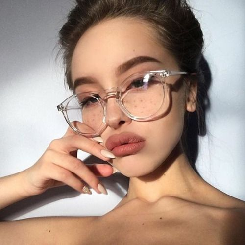 Librarian Fetish Clear Eye Glasses