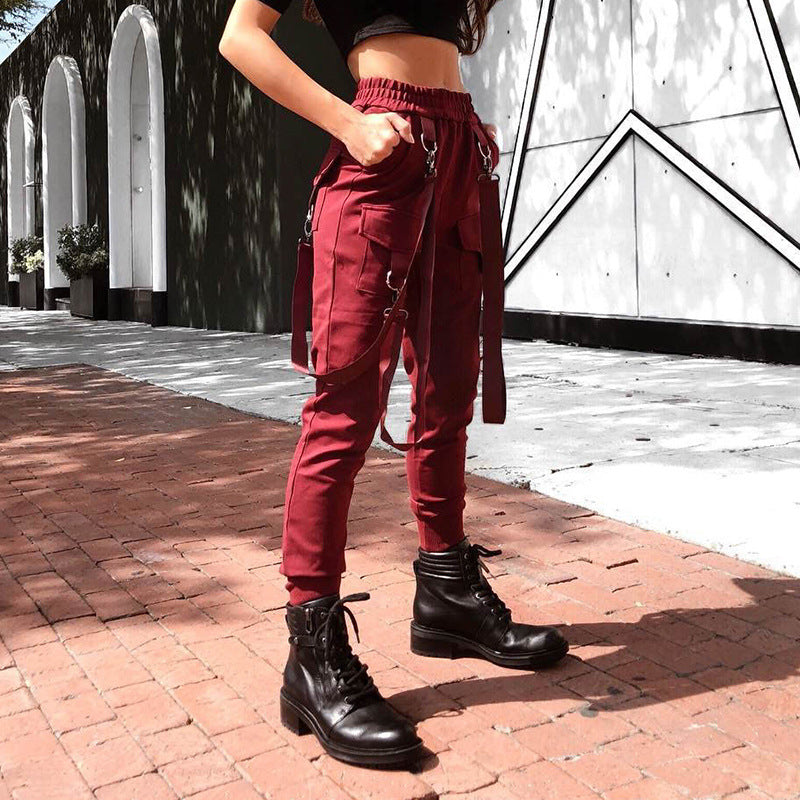 Strappy High Waisted Cargo Pants