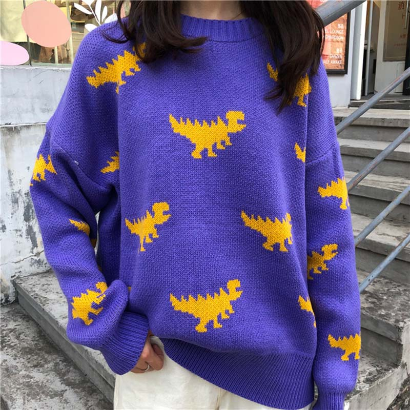 My Fav Dinosaur Knitted Sweater