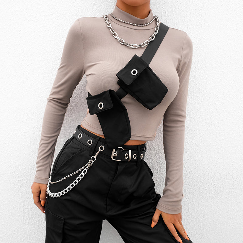 All Clout Long Sleeve Crop Top