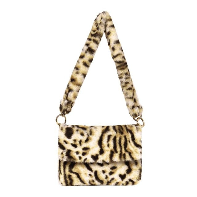 Tigress Faux Fur Shoulder Bag