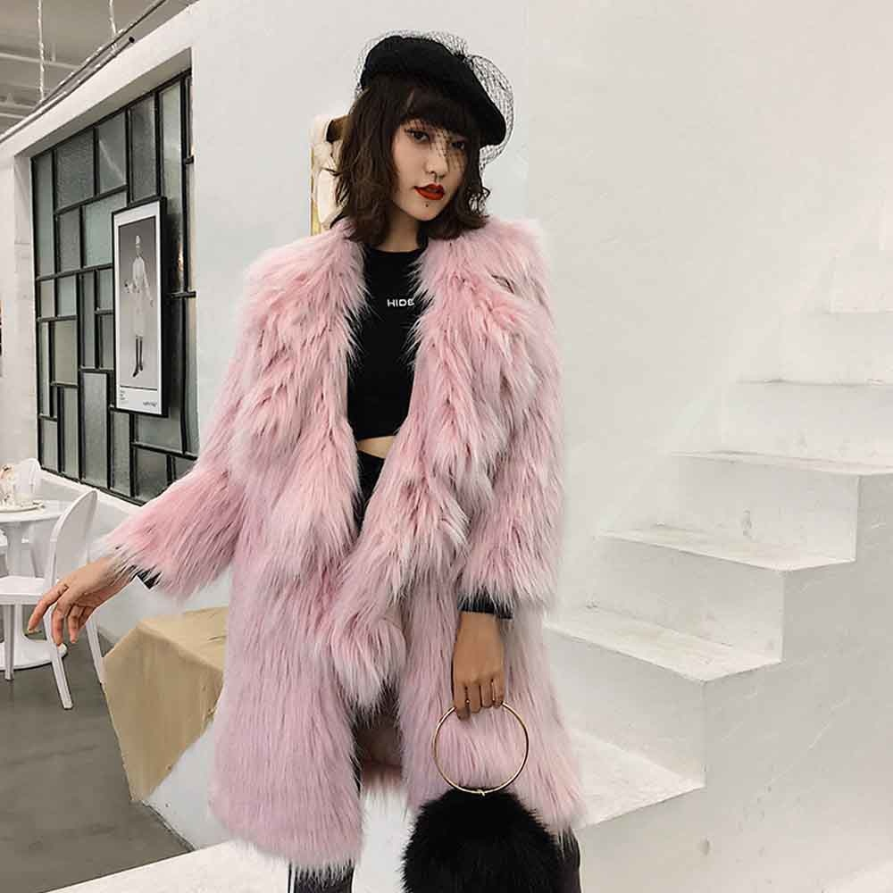 Pastel Faux Fur Oversized Coat