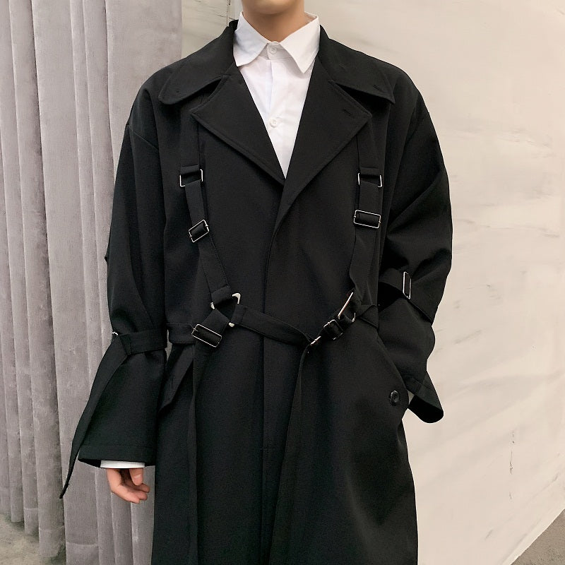 Straight To Business Buckle Trench Coat