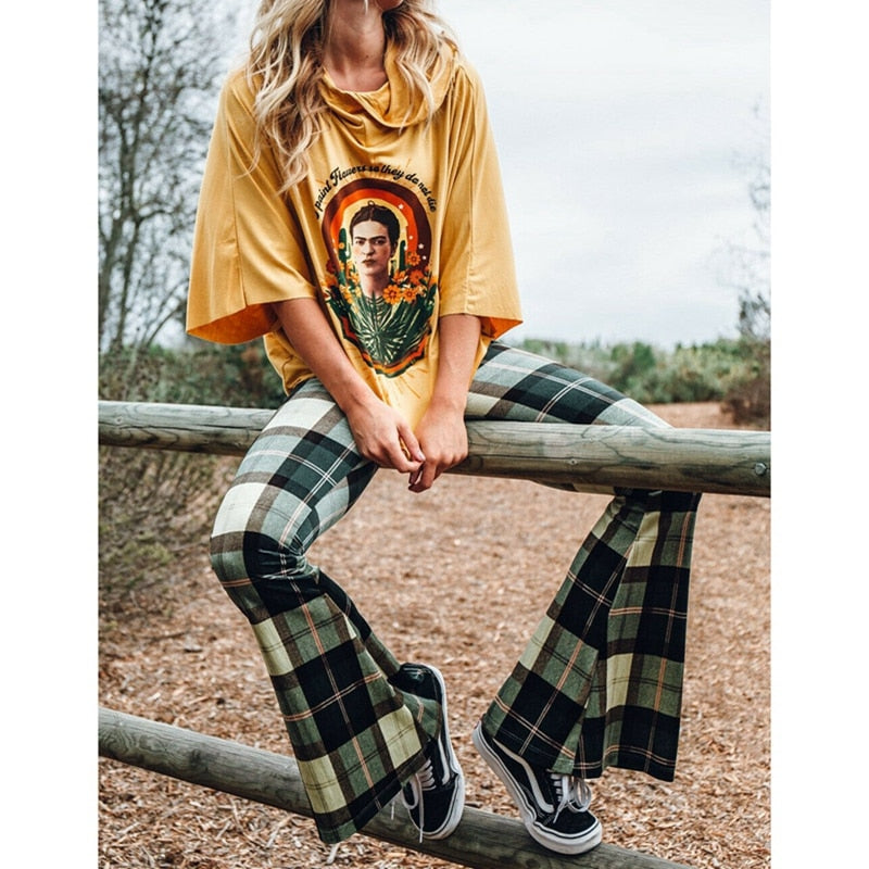 Mad For Plaid Flare Pants