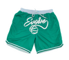 Green Evolve Shoelace Shorts