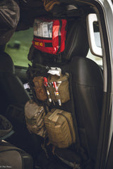 Staging medical gear in vehicle
