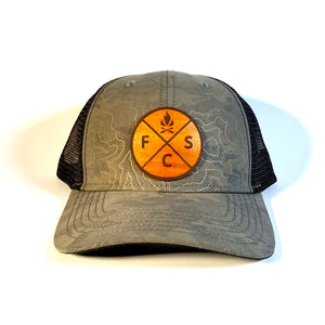 Fieldcraft Survival Leather Patch Topographic Design Hat