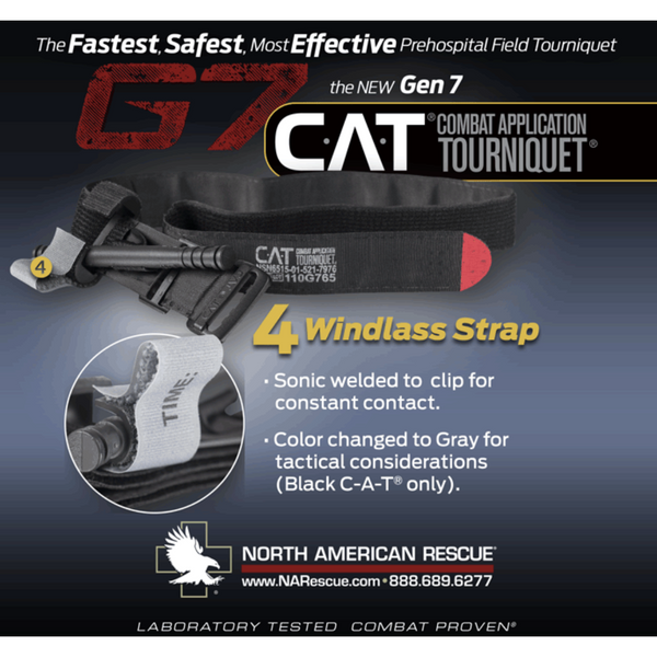 North American Rescue Combat Application Tourniquet (CAT) Gen 7