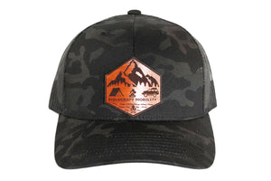 Fieldcraft  Mobility Black Multi Cam Hat with leather Patch
