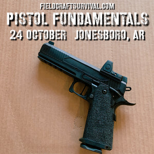 Pistol Fundamentals Course, 24 October 2020 (Jonesboro, AR)