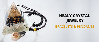Healy crystal jewelry: Bracelets and Pendants