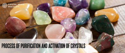 Process of purification and activation of crystals