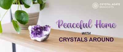 PEACEFUL HOME WITH CRYSTALS AROUND
