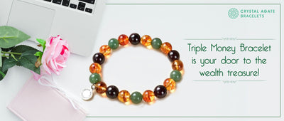 Triple money bracelet is your door to the wealth treasure!