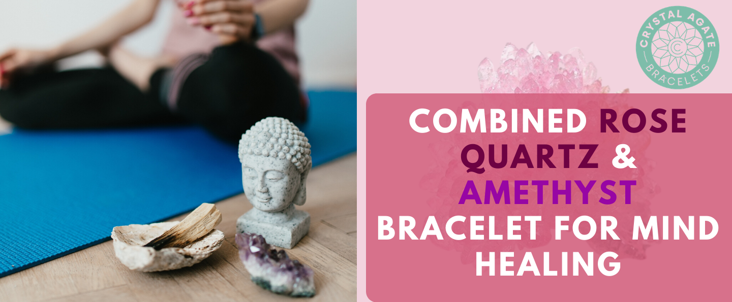 Combined Rose Quartz & Amethyst Bracelet For Mind Healing
